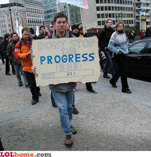 Don't stop the progress bar
