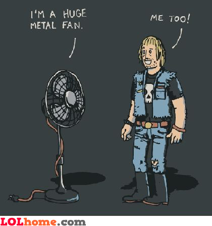 Huge metal fan