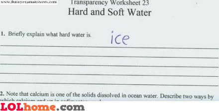 Hard water is ice