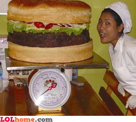 Biggest burger ever