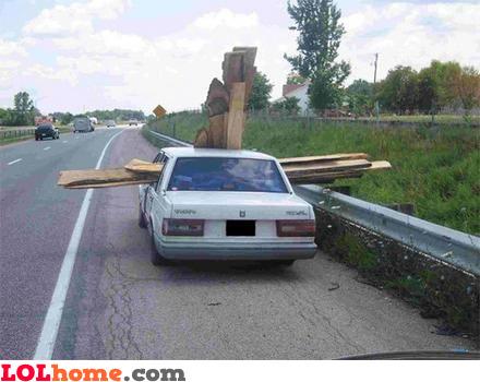 Transporting wood planks