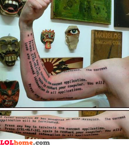 Geek arm tattoo