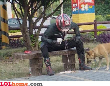 Don't puke in your helmet