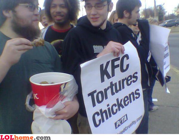 KFC tortures chickens