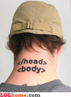 HTML tattoo