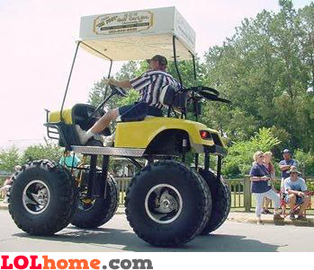Pimped golf cart