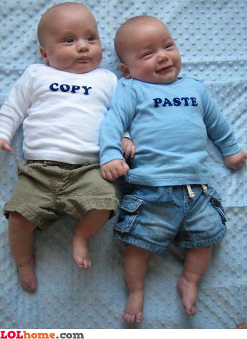 Copy Paste babies