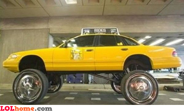 Pimped taxi