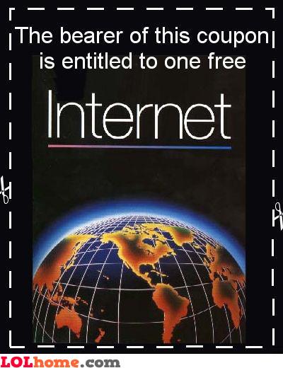 Internet coupon