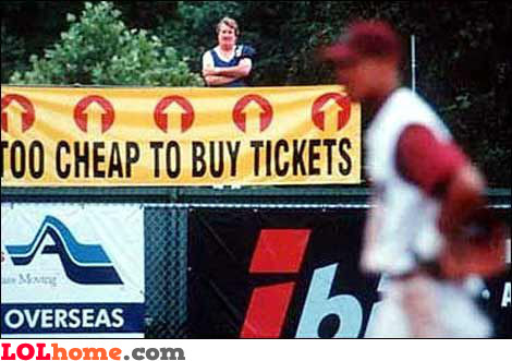 Too cheap to buy tickets