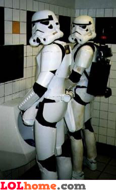 Storm troopers cought in the toilet