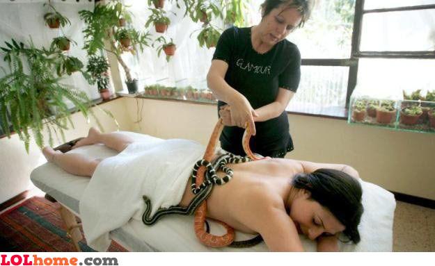 Snake massage