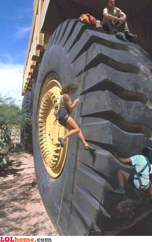 Wheel climbing