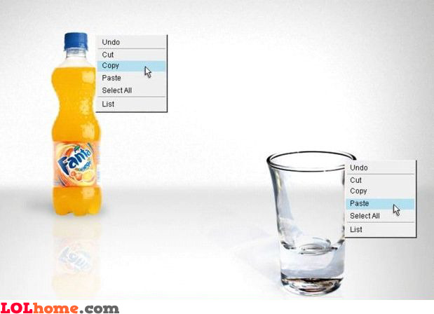 Pouring Fanta (geek version)