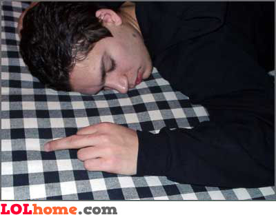 the reason why you shouldn't fall asleep at a party