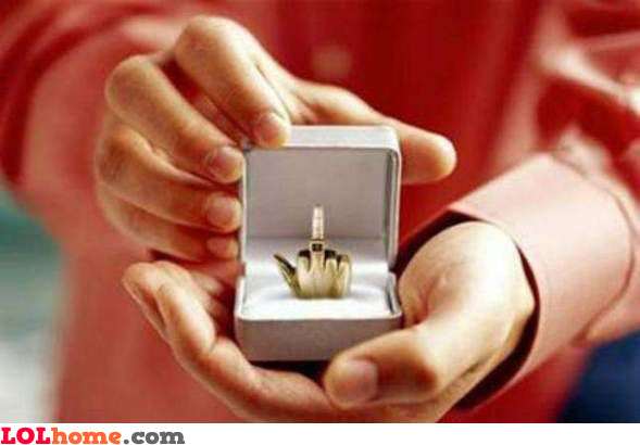 Here's your engagement ring