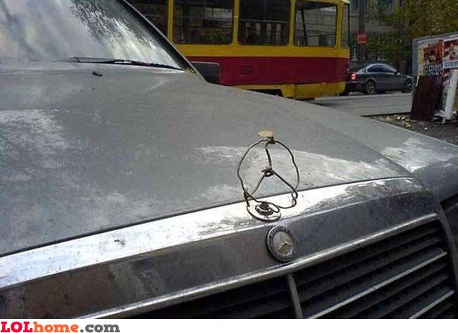 Improvised Mercedes logo