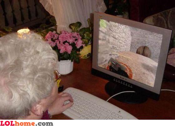 Plant the bomb, granny