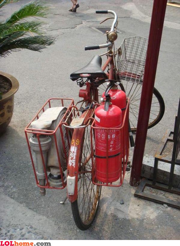 The fireman's bike