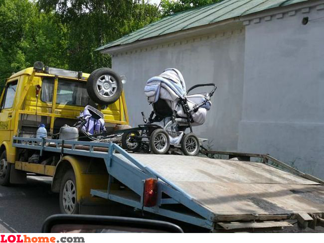 Illegal baby carriage parking