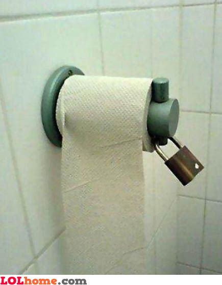 Do not steal the toilet paper