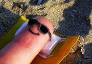 My finger at the beach