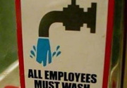All employees must wash genitals