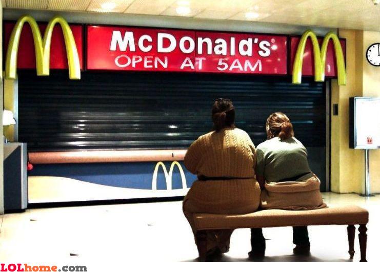 Waiting at McDonald's