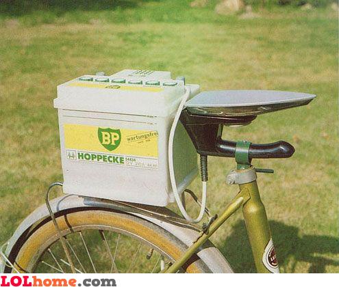 Bike seat with heating
