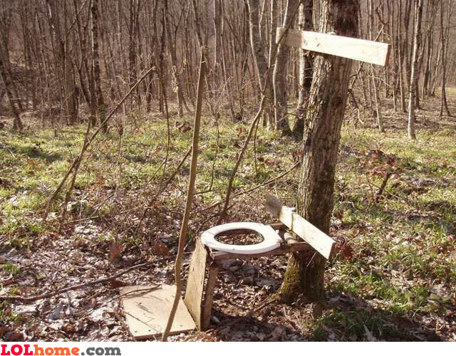 Forest toilet