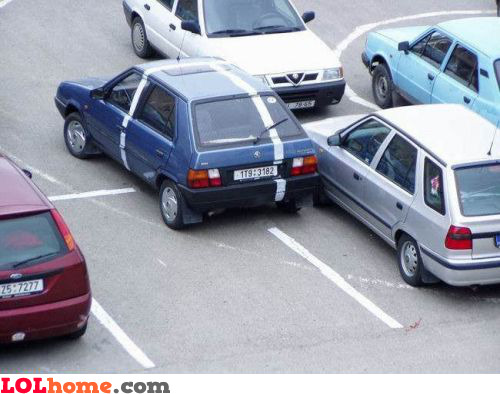 Next time park within the markings
