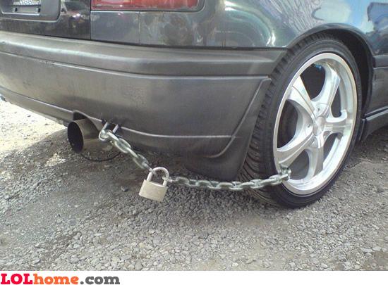 Anti car theft lock