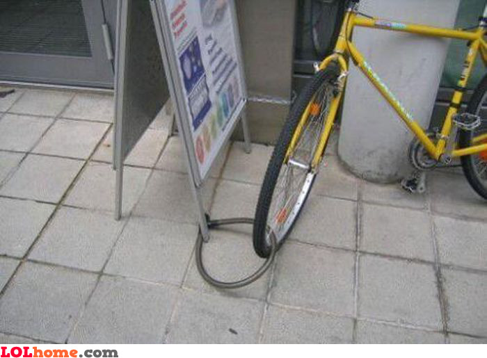 Nobody would be able to steal this bike