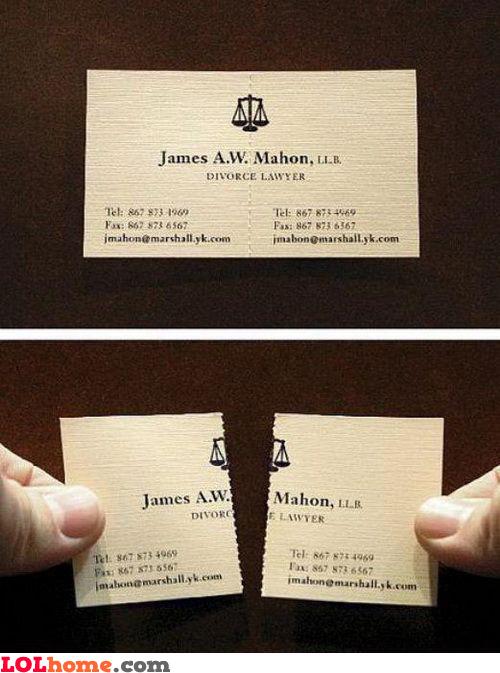 Divorce lawyer card