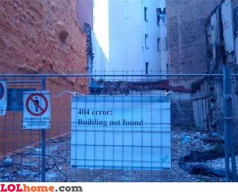 Building not found error
