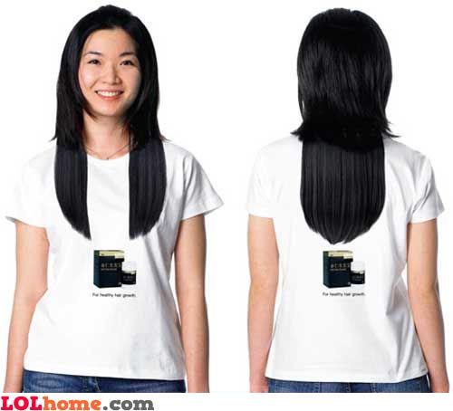 Long hair tshirt