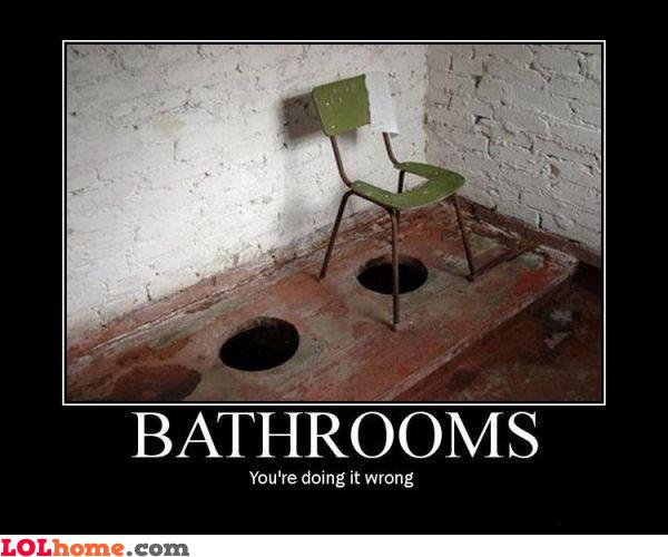 Improvised bathroom