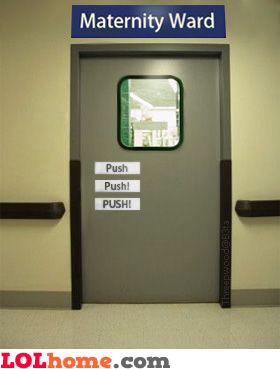 Maternity ward door