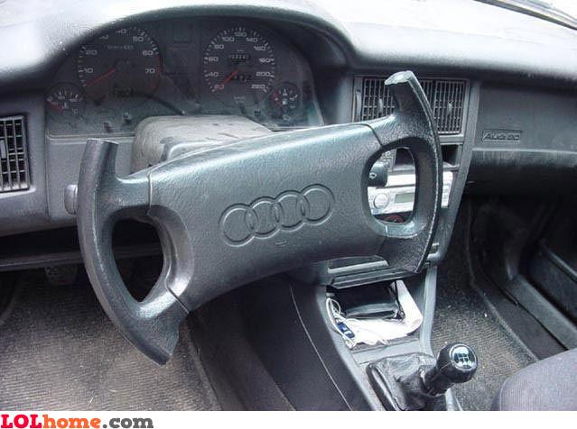 Former pilot's steering wheel