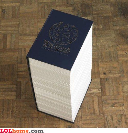 Wikipedia printed