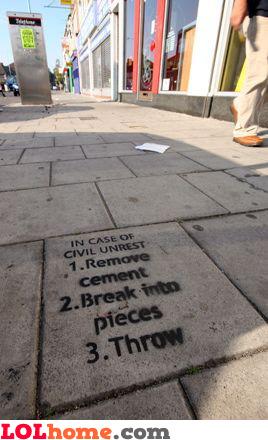 In case of civil unrest