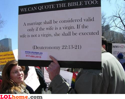 We can quote the Bible too