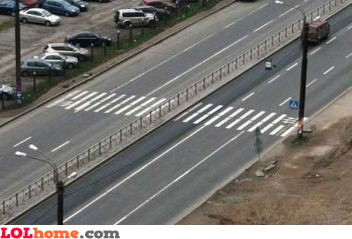Zebra crossing gone bad