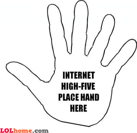 Internet high-five