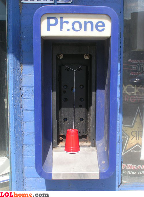 Phone booth cup