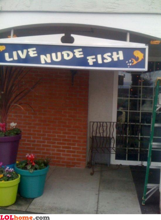Live nude fish