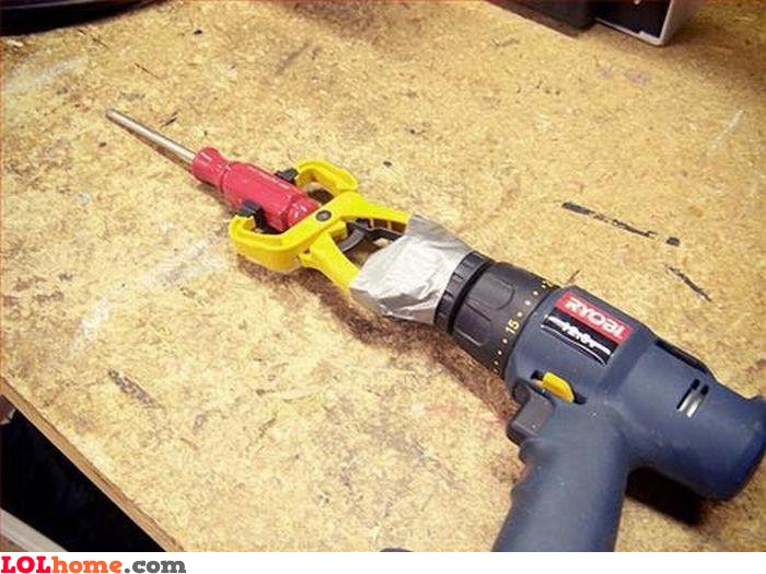 Homemade screw drill