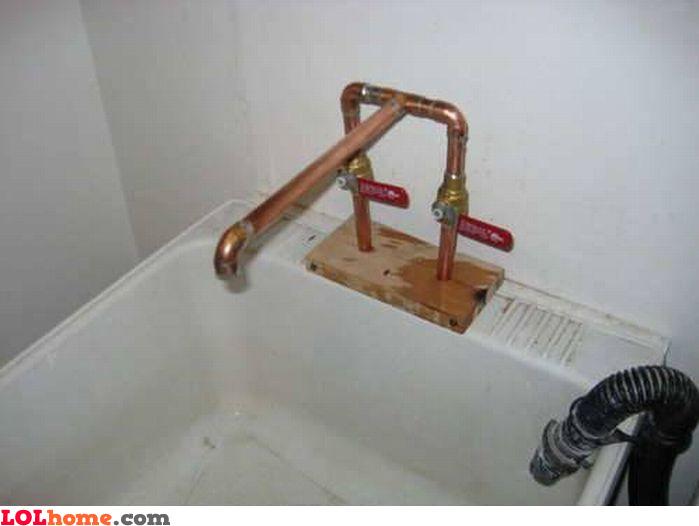 Homemade faucet