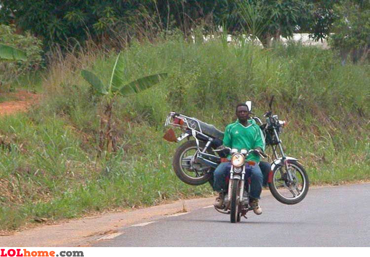 Towing another motorcycle