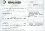 Official formal apology